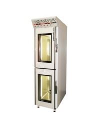 Armoire de fermentation de 2 cellules de 12 étages pour 48 plaques 400 x 600 - 2 portes vitrées superposées