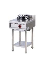 Wok professionnel gaz 1 brûleur - gamme 600