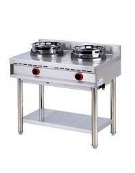 Wok professionnel gaz 2 brûleurs - gamme 600