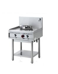 Wok professionnel gaz 1 brûleur - gamme 700 - Avec système d'injection d'eau