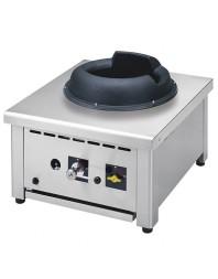Wok professionnel de table gaz 1 brûleur - gamme 650