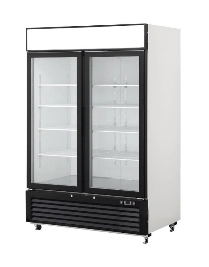 Armoire réfrigérée vitrée négative - 2 portes - 1320 ...