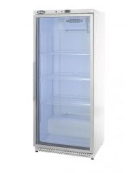Armoire réfrigérée positive blanche - 1 porte vitrée- 600 litres