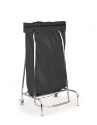 Porte sac poubelle inox - 110 L