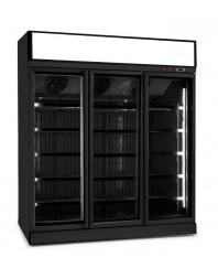 Armoire réfrigérée négative full black positive avec canopy - 18/-22°C - 3 portes vitrées battantes - 1530 litres