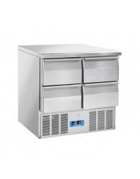 Table réfrigérée 4 tiroirs - Capacité 215 litres - 0/8°C - Cool Head