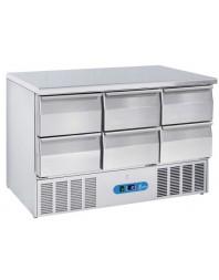 Table réfrigérée 6 tiroirs - Capacité 340 litres - 0/8°C - Cool Head