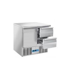 Table réfrigérée 1 porte 2 tiroirs - Capacité 215 litres - 0/8°C - Cool Head
