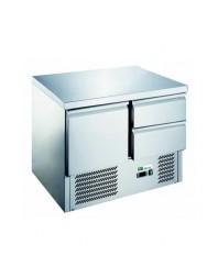 Table réfrigérée 1 porte 2 tiroirs - Capacité 230 litres - +2/+8°C