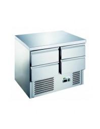 Table réfrigérée 4 tiroirs - Capacité 230 litres - +2/+8°C