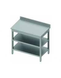 Table de travail adossée démontée avec 2 étagères - Prof 600 - Différentes dimensions