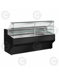 Vitrine comptoir réfrigérée - 2 étagères - Froid positif statique - Gamme Himalaya - Différentes dimensions - Technitalia