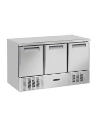 Table réfrigérée négative - 3 portes - 370 litres -15°/-22°C