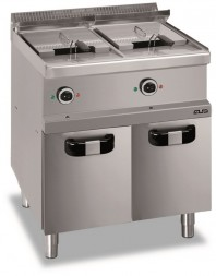 Friteuse professionnelle 2 x 13 litres électrique sur coffre fermé - MBM