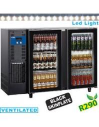 Refroidisseur de bouteilles - 2 portes vitrées - Capacité 375 litres