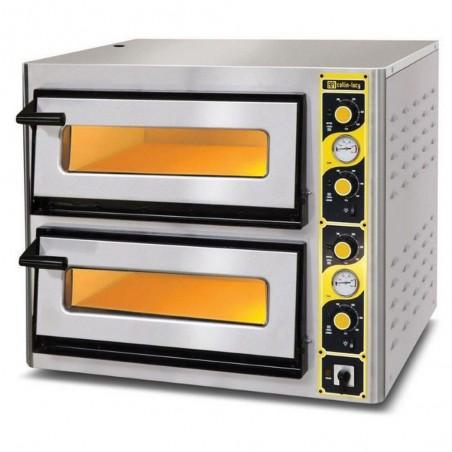 Four à pizzas professionnel AFI électrique chambre double de cuisson Ø 33 cm.
