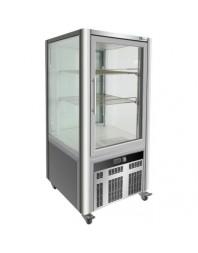 Vitrine réfrigérée de boulangerie avec 4 faces vitrées - 167 litres