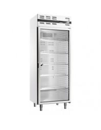 Armoire réfrigérée négative avec porte vitrée - Skinplate blanc - 535 litres