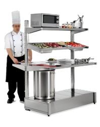 Table centrale plaquée en acier inoxydable Imagine - Différentes dimensions