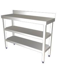 Table de travail adossée avec étagère Longueur 1200 mm - Profondeur 400 -