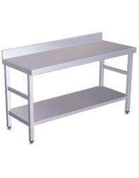 Table de travail adossée avec étagère Longueur 1500 mm - Profondeur 500 -