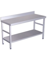 Table de travail adossée avec étagère Longueur 1200 mm - Profondeur 500 -