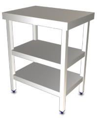 Table de travail centrale avec 2 étagères Longueur 705 mm - Profondeur 505 -