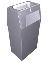 Poubelle inox avec cendrier - 44 litres