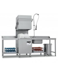 Lave-vaisselle à capot - 15 litres - STEELTECH V1 - Panier 500 x 500 mm - COLGED