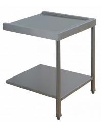 Table lisse pour machines à capot panier 600 x 500