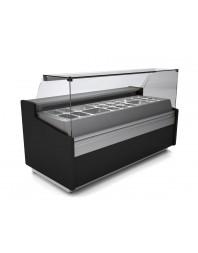 Vitrine comptoir réfrigérée avec structure pour bacs GN - Froid positif ventilé - Différentes dimensions -