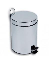 Poubelle à pédale - 30 litres - acier inoxydable - brillant