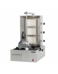Machine à kebab- gaz - 3 zones - Capacité 60 kilos - Technitalia