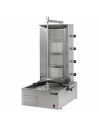 Machine à kebab- gaz - 4 zones - Capacité 80 kilos - Technitalia