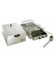 Fumoir électrique pour aliments, 2 étages (400 x 600 mm + 340 x 545 mm)