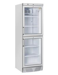 Vitrine réfrigérée verticale 350 litres - 2 compartiments - +1°/+12°C