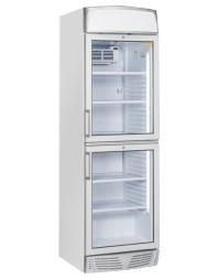 Vitrine réfrigérée verticale 350 litres avec canopy - 2 compartiments - +1°/+12°C
