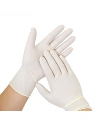 Gants latex non poudrés - Taille M - Boite de 100 gants