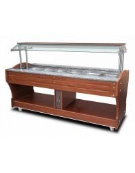 Buffet froid à ile avec réfrigération statique, 6x gn 1/1 h 150 mm