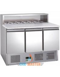 Table réfrigérée à pizzas - 3 portes - Capacité 8 GN 1/6 - AFI