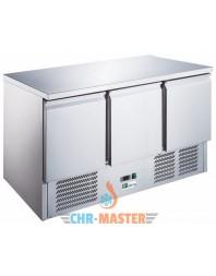 Table réfrigérée centrale positive - 3 portes -bacs GN 1/1 -