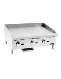 Plaque à snacker gaz butane/propane - acier - Surface Grill : 905 x 525 mm