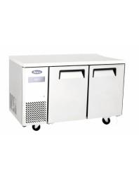 Table réfrigérée compacte 2 portes positive - L 1200 P 700