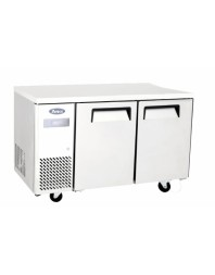 Table réfrigérée compacte centrale 2 portes positive - L 1200 P 700