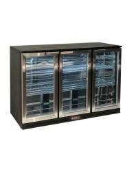 Arrière-bar 3 portes vitrées battantes - 320 litres - Atosa