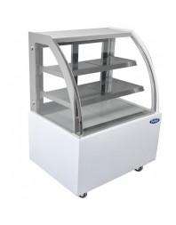 Vitrine réfrigérée de boulangerie semi-bombée blanche - Service arrière - Différentes dimensions possibles