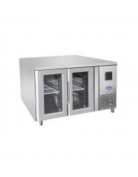 Table réfrigérée centrale vitrée 2 portes positive - 700 - Gamme GN1/1