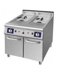 Friteuse professionnelle double 2 x 17 litres électrique sur coffre - Gamme 700