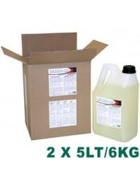 Détergent liquide lave-verres & lave-vaisselle - Eau adoucie - 2 BD. x 5 LT/6 KG