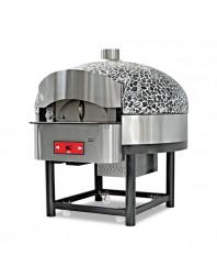 Four à pizzas gaz avec base rotative - 9 pizzas Ø 300 mm - 130 pizzas / heure.